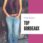 Porter un top bordeaux