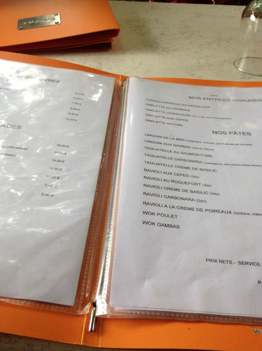 carte restaurant les baous vence