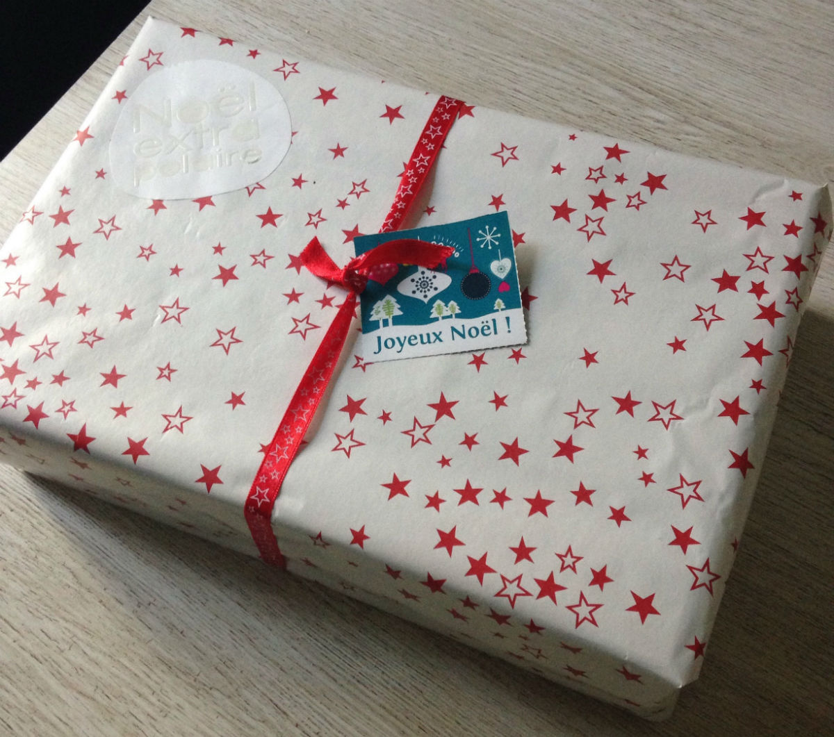 etoile emballage cadeau noel