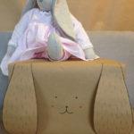 Emballage cadeau enfant : le lapin en papier kraft