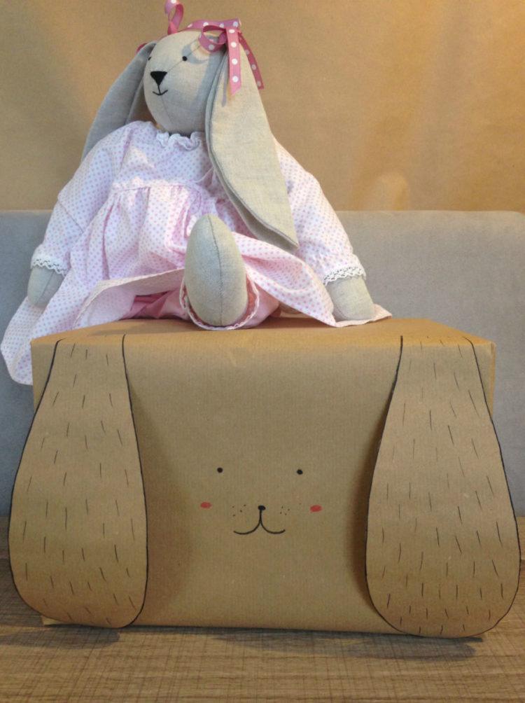 emballage cadeau enfant lapin