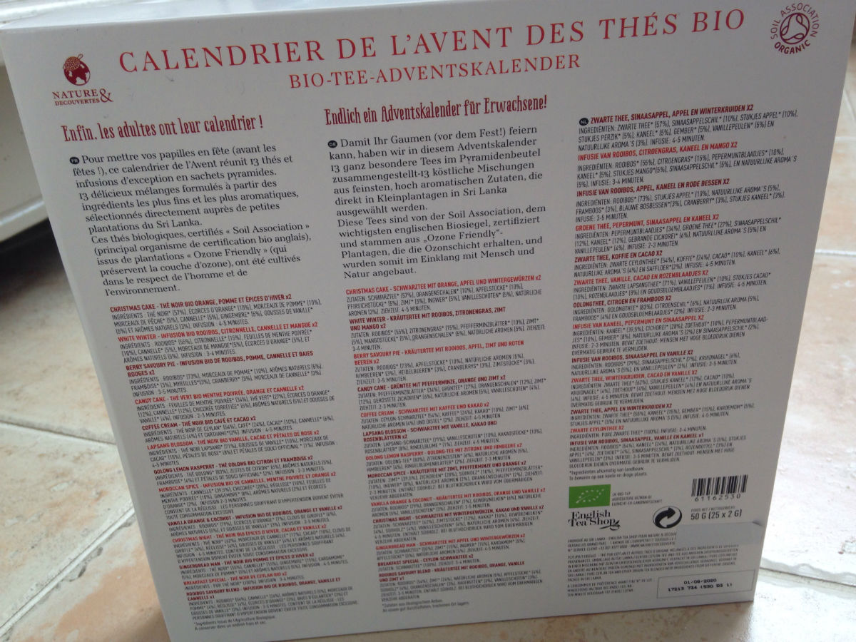 idee cadeau calendrier avent the