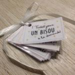 Cadeau DIY St Valentin: des tickets d'amour