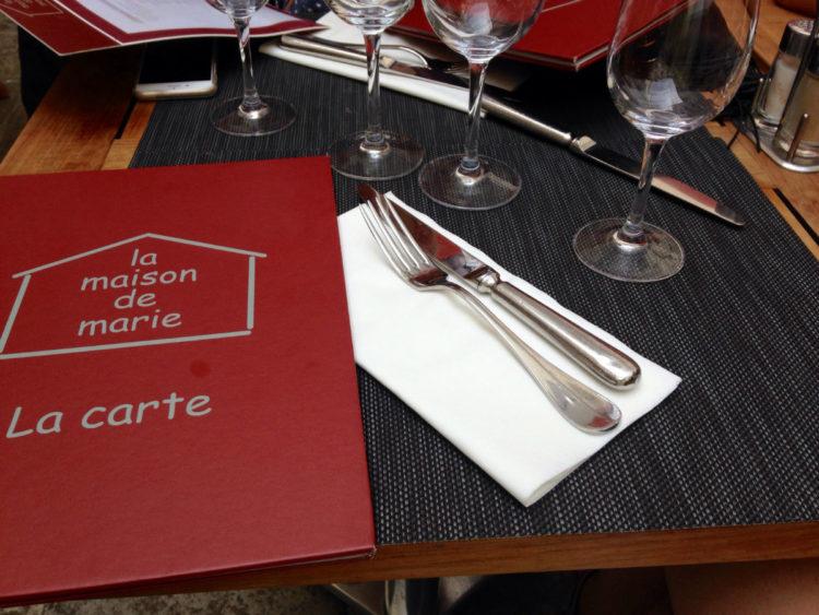 carte restaurant maison marie nice