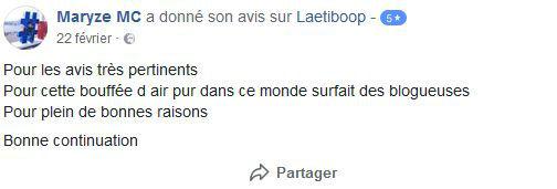 avis facebook blog laetiboop