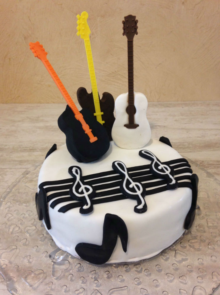 idee gateau anniversaire guitare