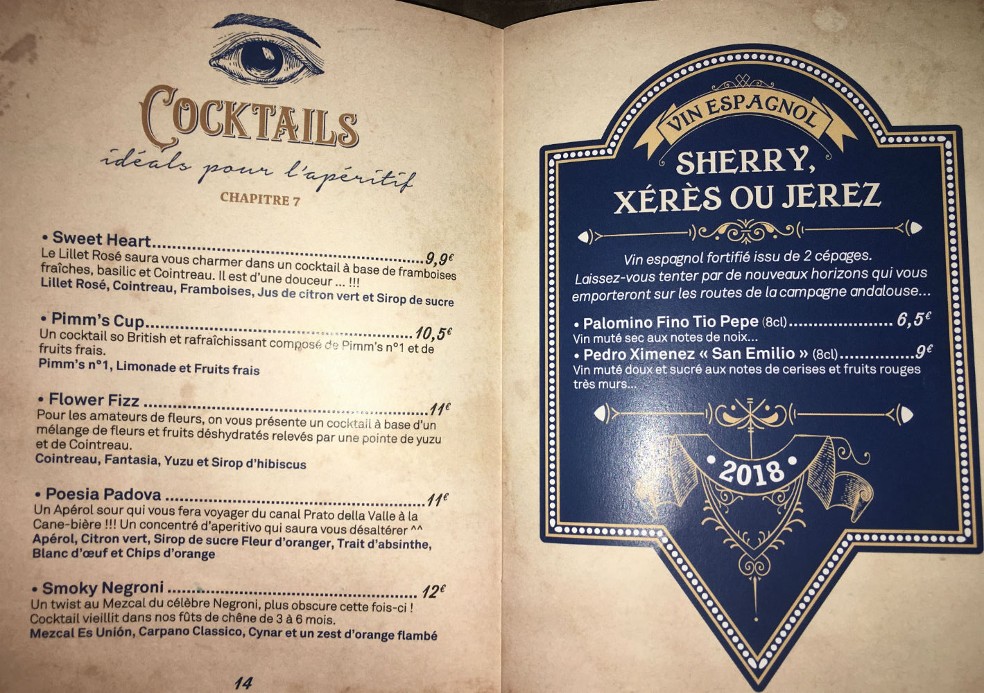 el merkado nice carte cocktail