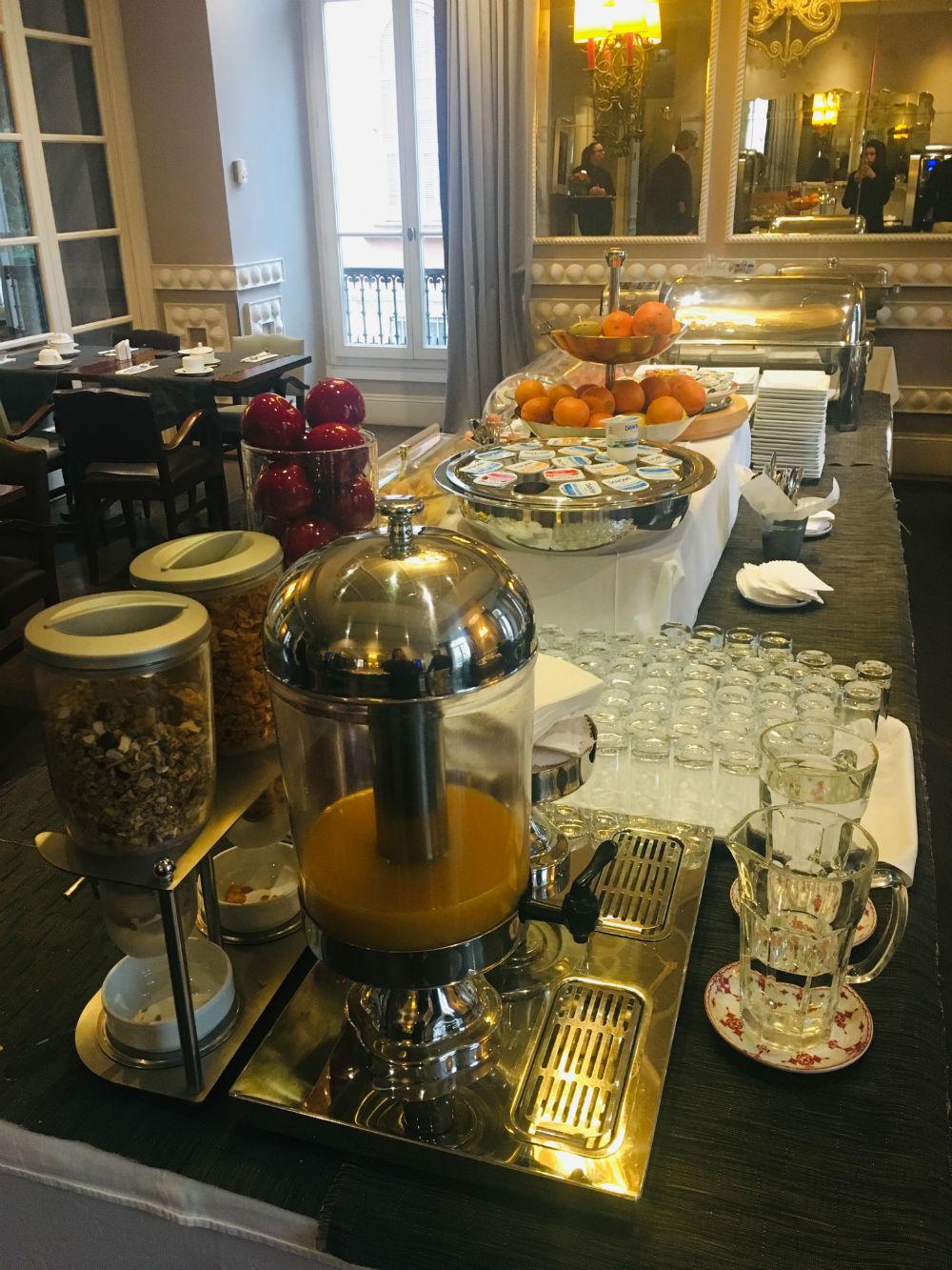 hotel ellington nice petit dejeuner