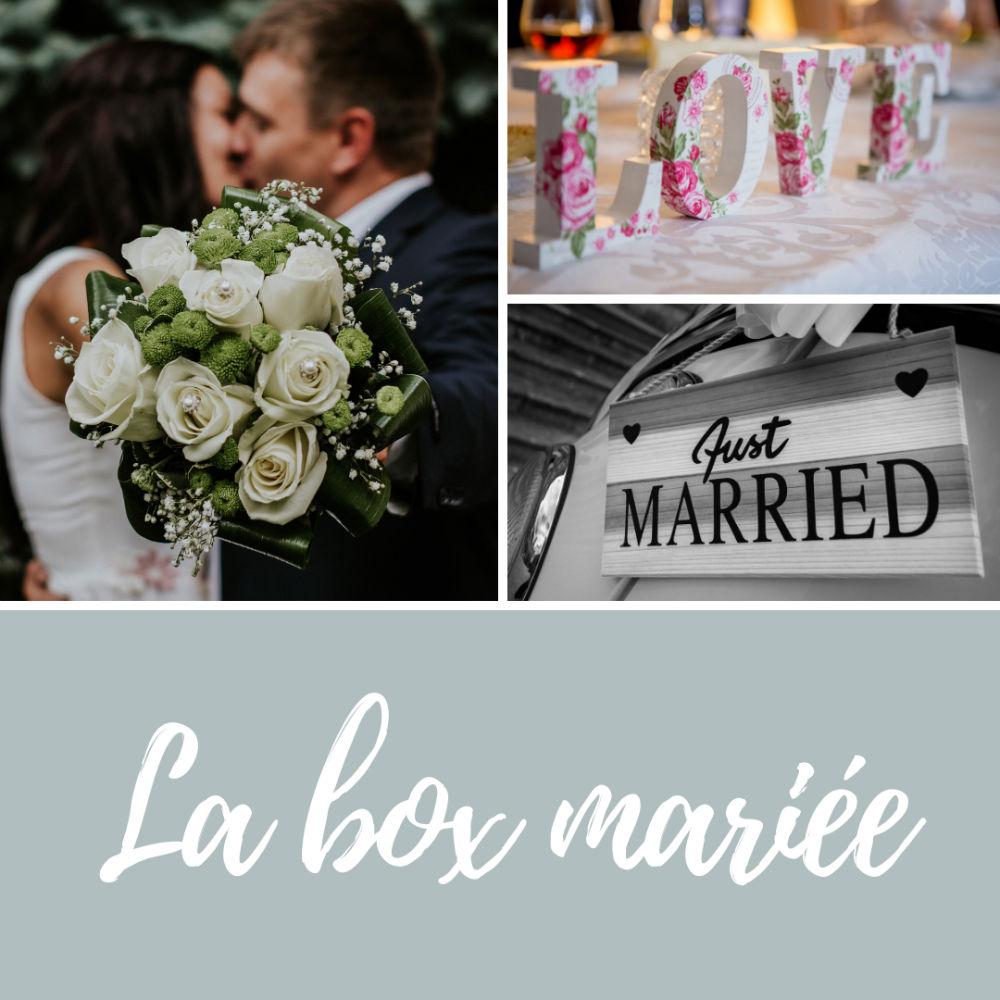 etiquette box mariage