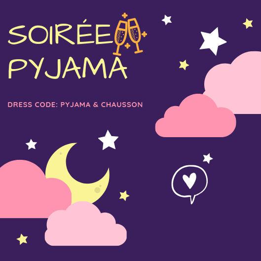 invitation soiree pyjama adulte