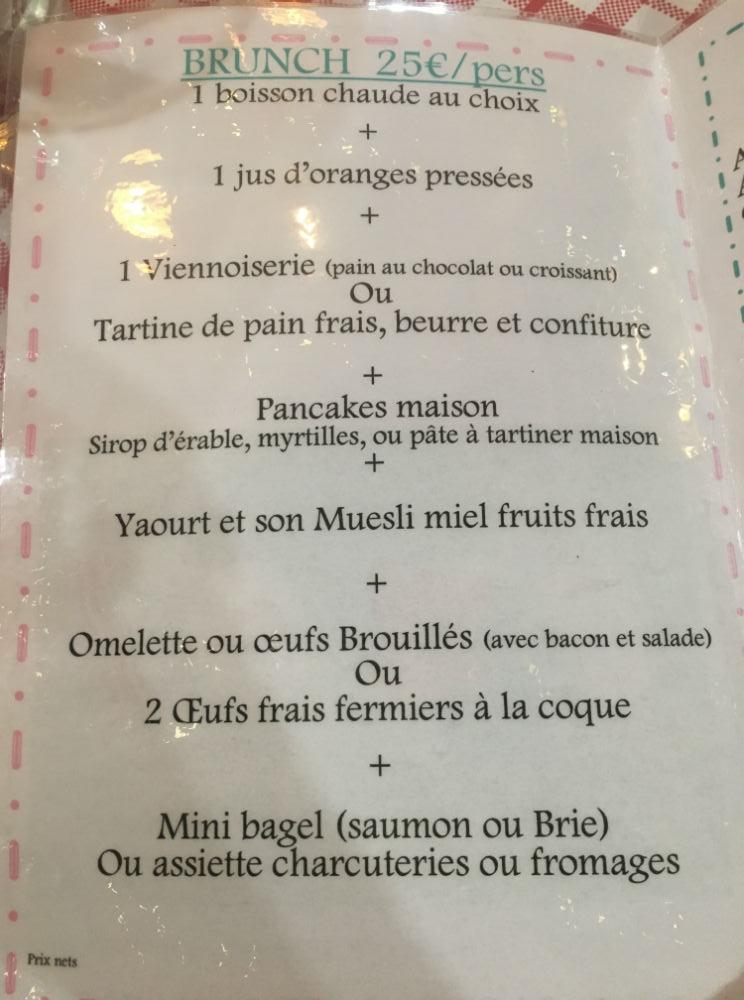 menu brunch tb cafe nice