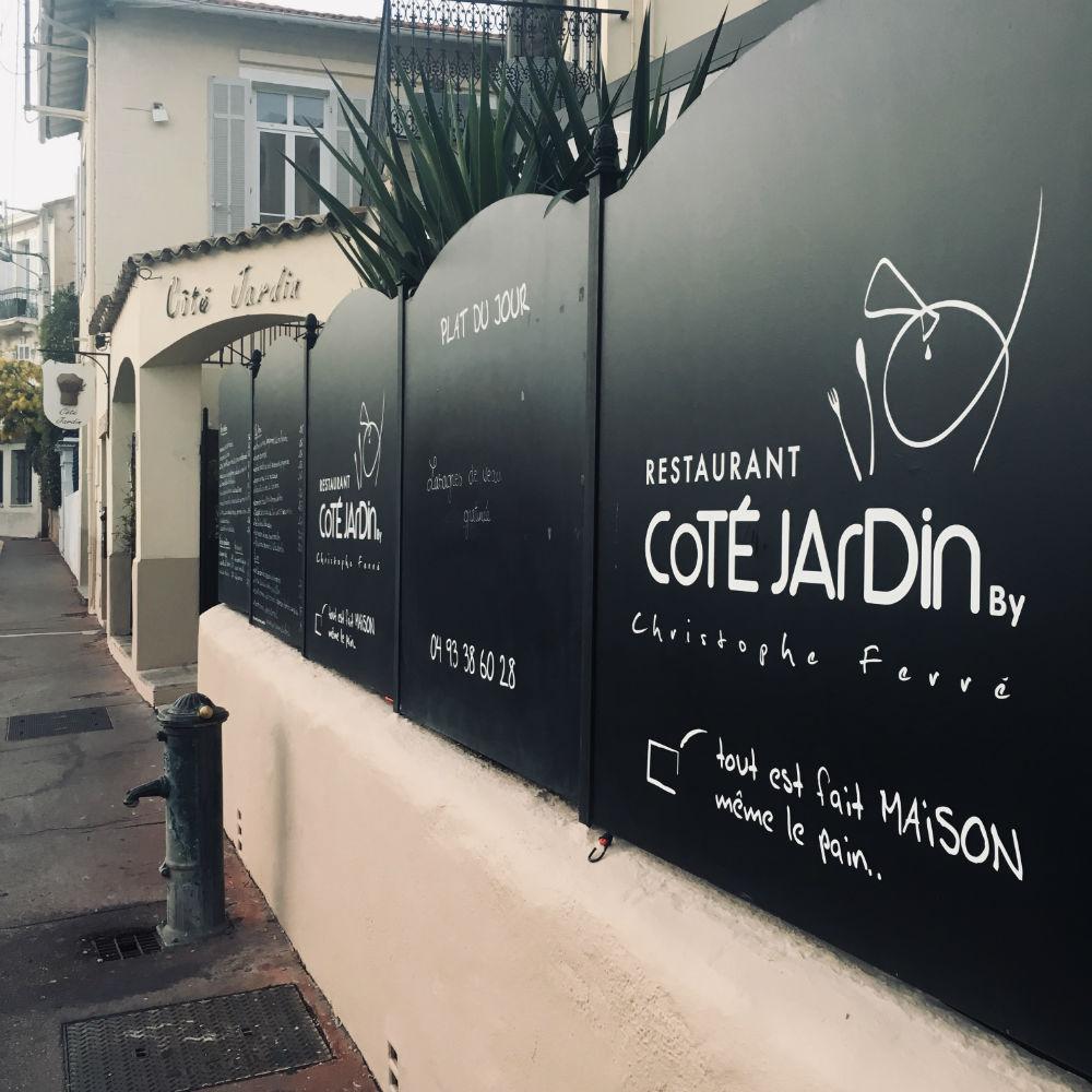 restaurant cote jardin by christophe ferre cannes