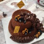 Gâteau chantier pour un anniversaire à thème