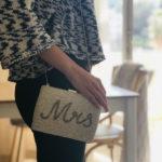 Idée cadeau de mariage original: un sac pour la mariée