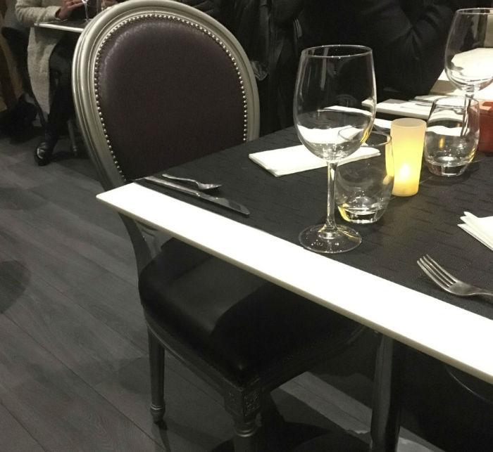 table restaurant le boudoir nice