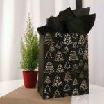 Emballage cadeau original en noir et blanc