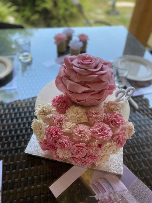 anniversaire gateau fleur