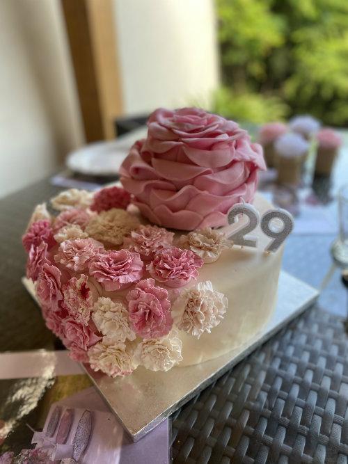 gateau fleur anniversaire