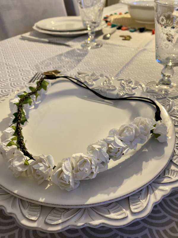 couronne fleurs baby shower