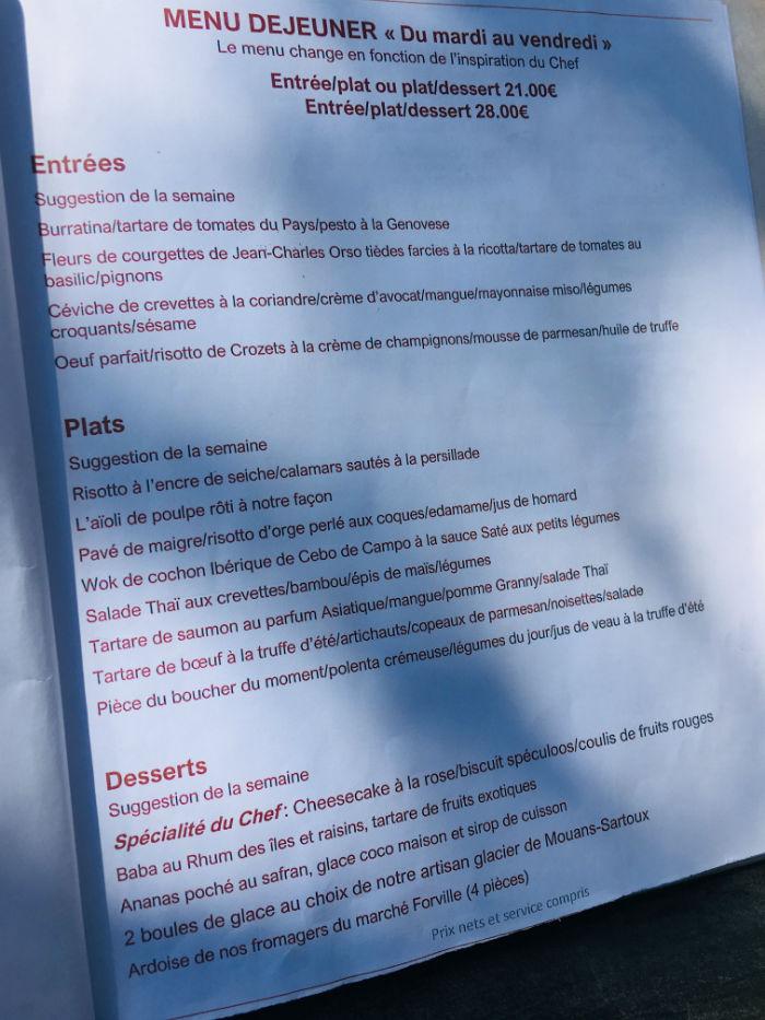 menu lougolin